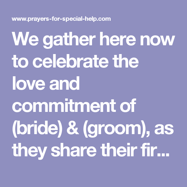 Wedding Reception Prayers Deweddingjpg