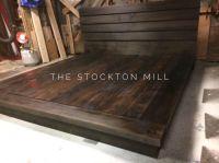 Hardwood Platform Bed, King size wood bed Ruby Collection ...
