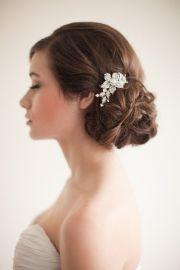 flower rhinestone bridal comb floral