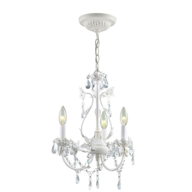 Hampton Bay Kristin 3 Light Hanging Antique White Mini Chandelier Hb3430 44