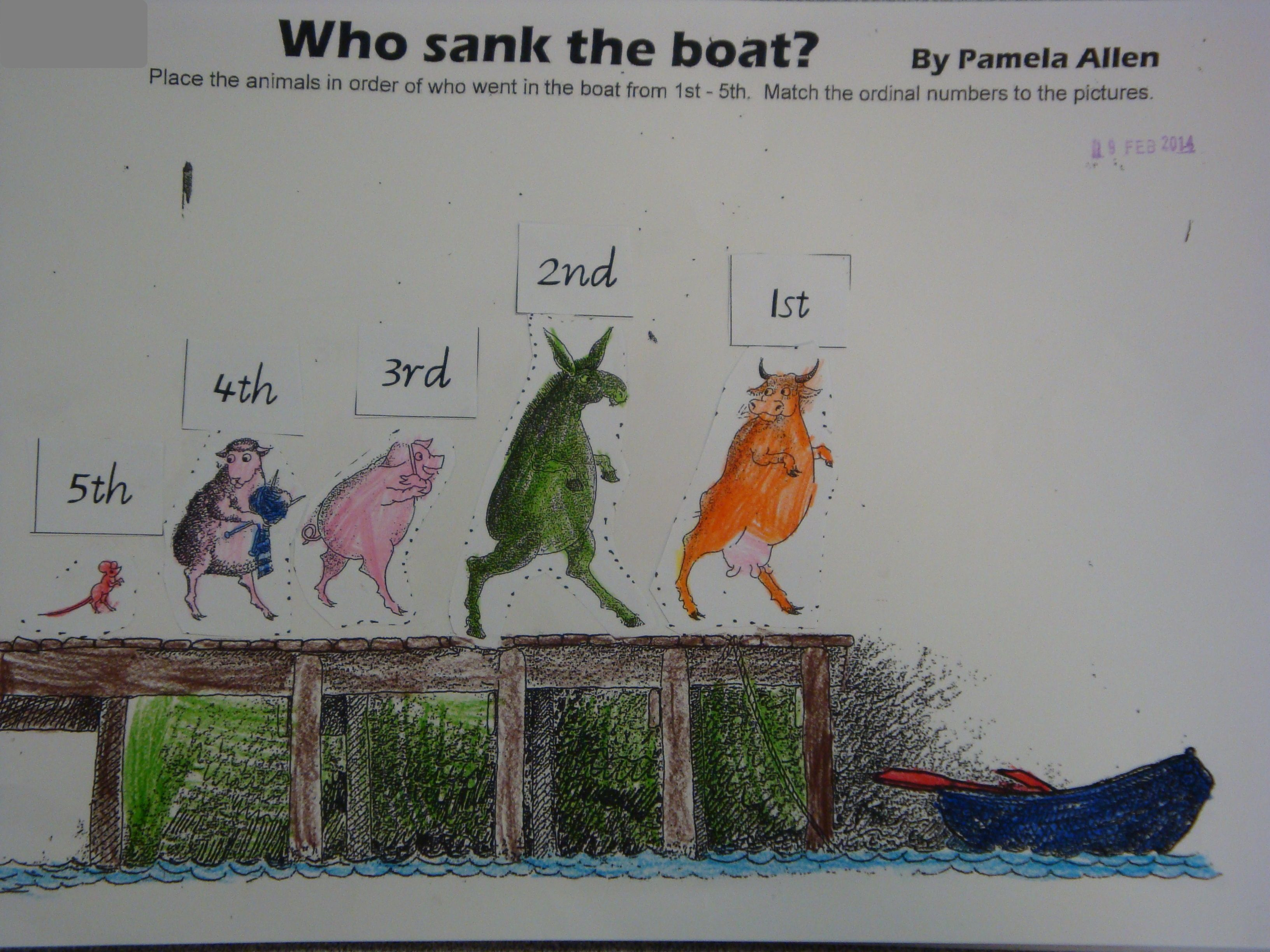 Who Sank The Boat Activities