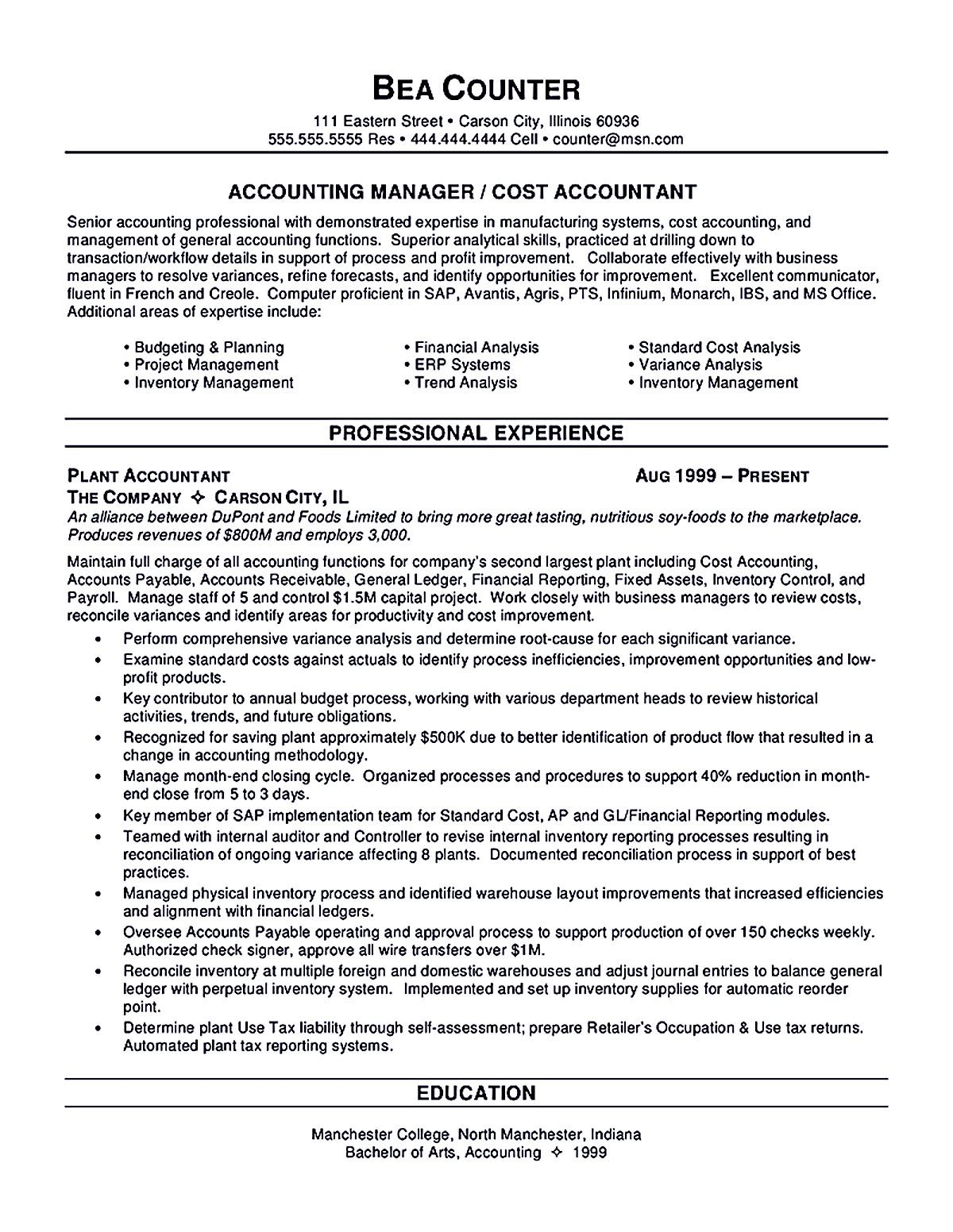 Resume Template For Accountant Accounts Payable Resume Template Accountant Resume