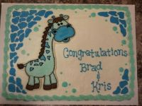 Giraffe Baby Shower Sheet Cakes : Giraffe Baby Shower
