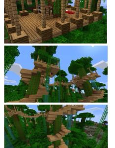 Cool jungle house the is actually built in to trees love it also best images about gamerzone on pinterest minecraft survival rh
