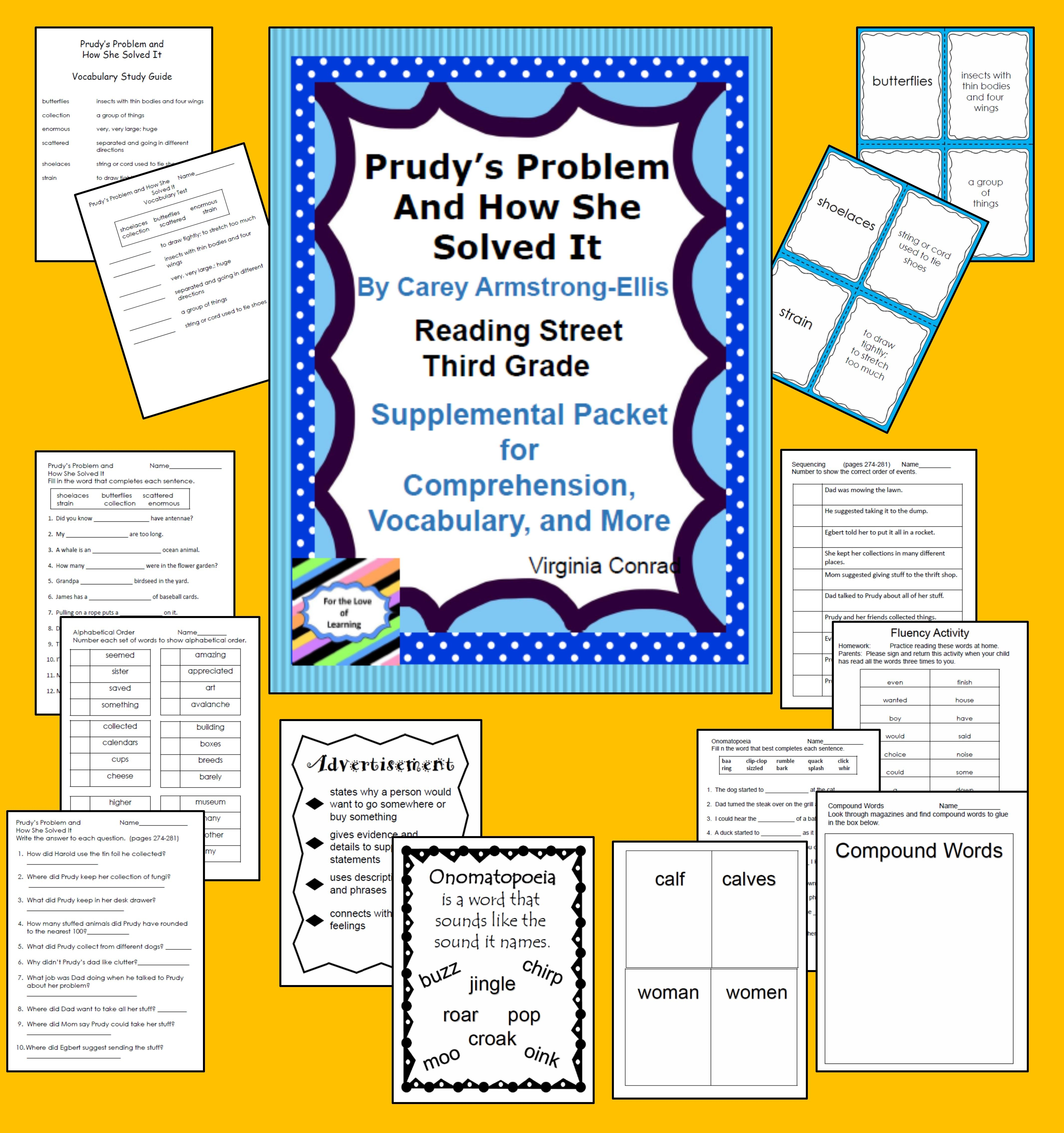 Prudy S Problem And How She Solved It Reading Street Supplemental Packet