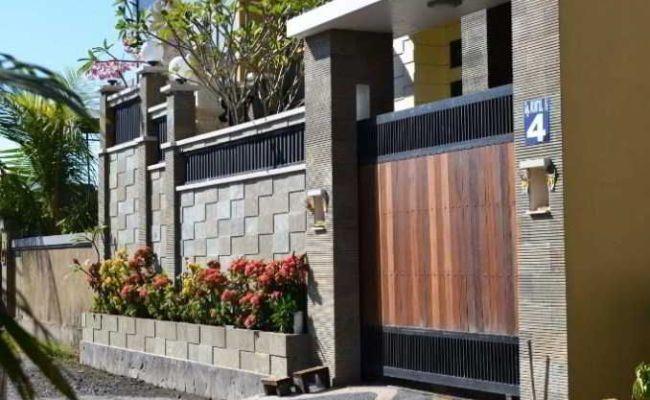 15 Contoh Gambar Pagar Tembok Rumah Minimalis Type 36 Paling Populer Lingkar Png