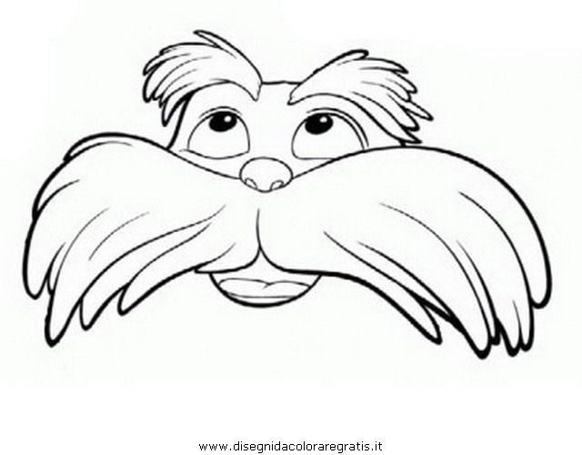 23 + Lorax Mustache Template Images Printable Lorax