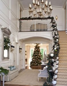 stunning christmas staircase decorating ideas also banisters firs rh za pinterest