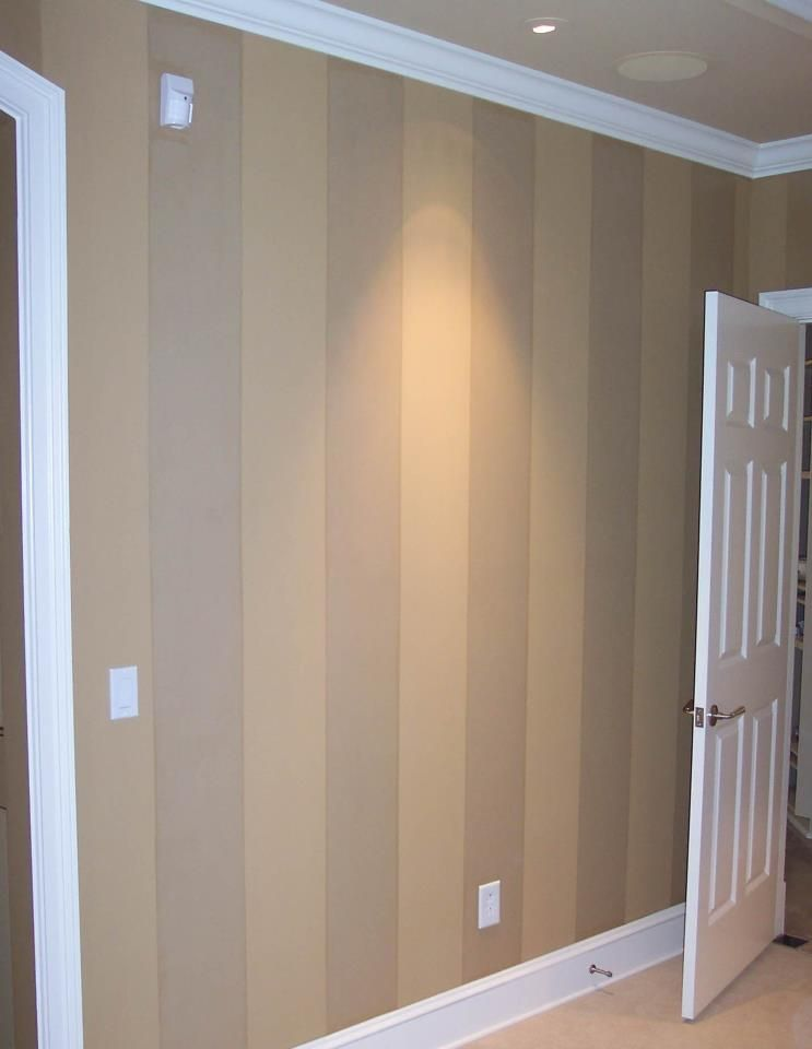 Idea for painting over the wood panelling in the basement