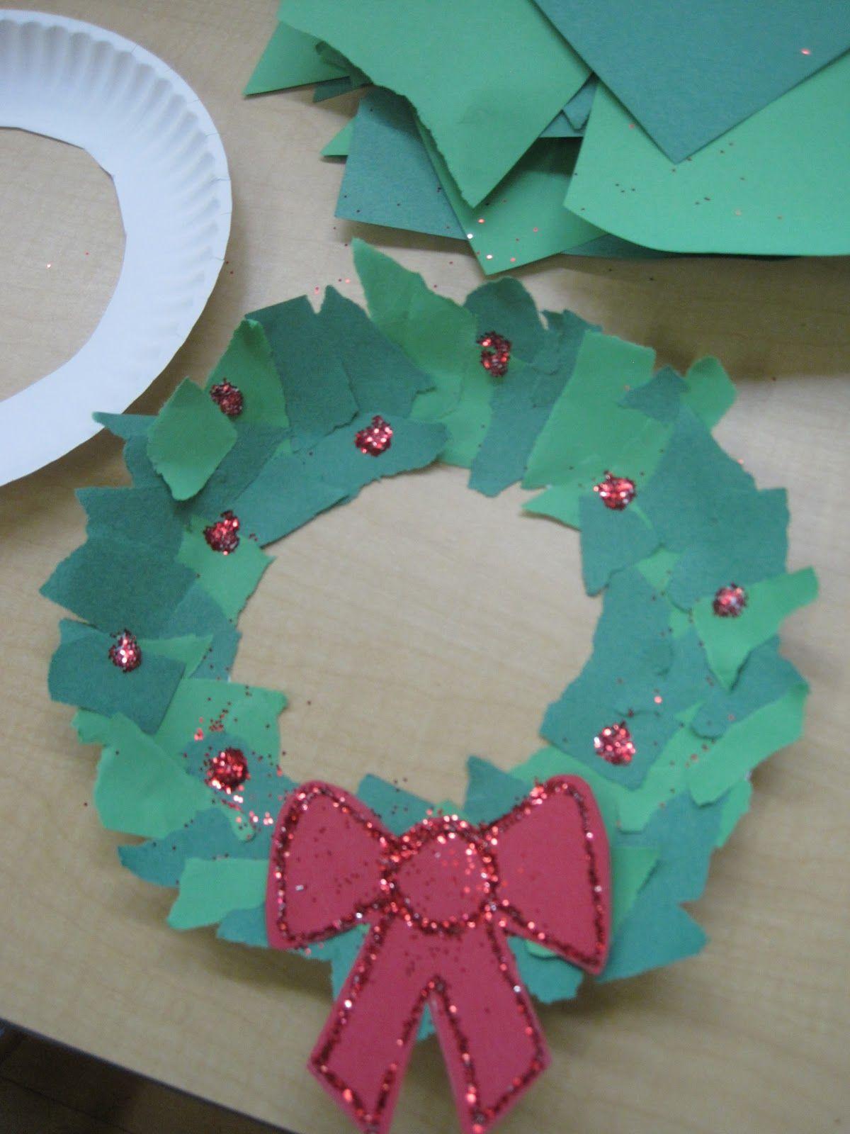 Torn Paper Wreath