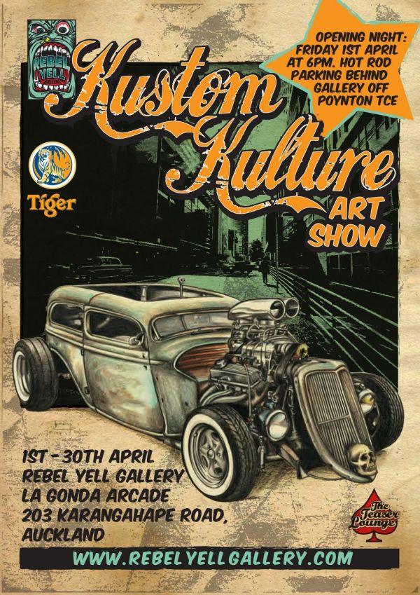 Kustom Kulture Art Show Flyer