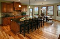 Kitchen with Cherry Cabinets and Hickory Floors | Kitchen ...