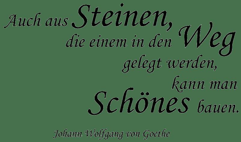 Wandtattoos Spruch Zitat Goethe Steine Weg Wandaufkleber