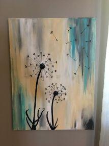 Dandelion Painting Jensenacrylics Pincedadas