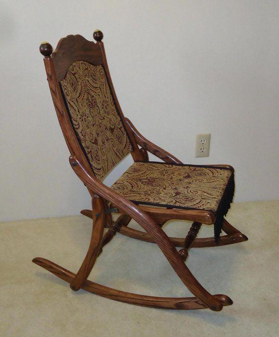 Civil War Folding Rocking Chair  Rocking chairs Civil