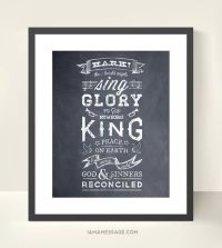 Christmas Carol Print - Hark the Herald Angels Sing ...