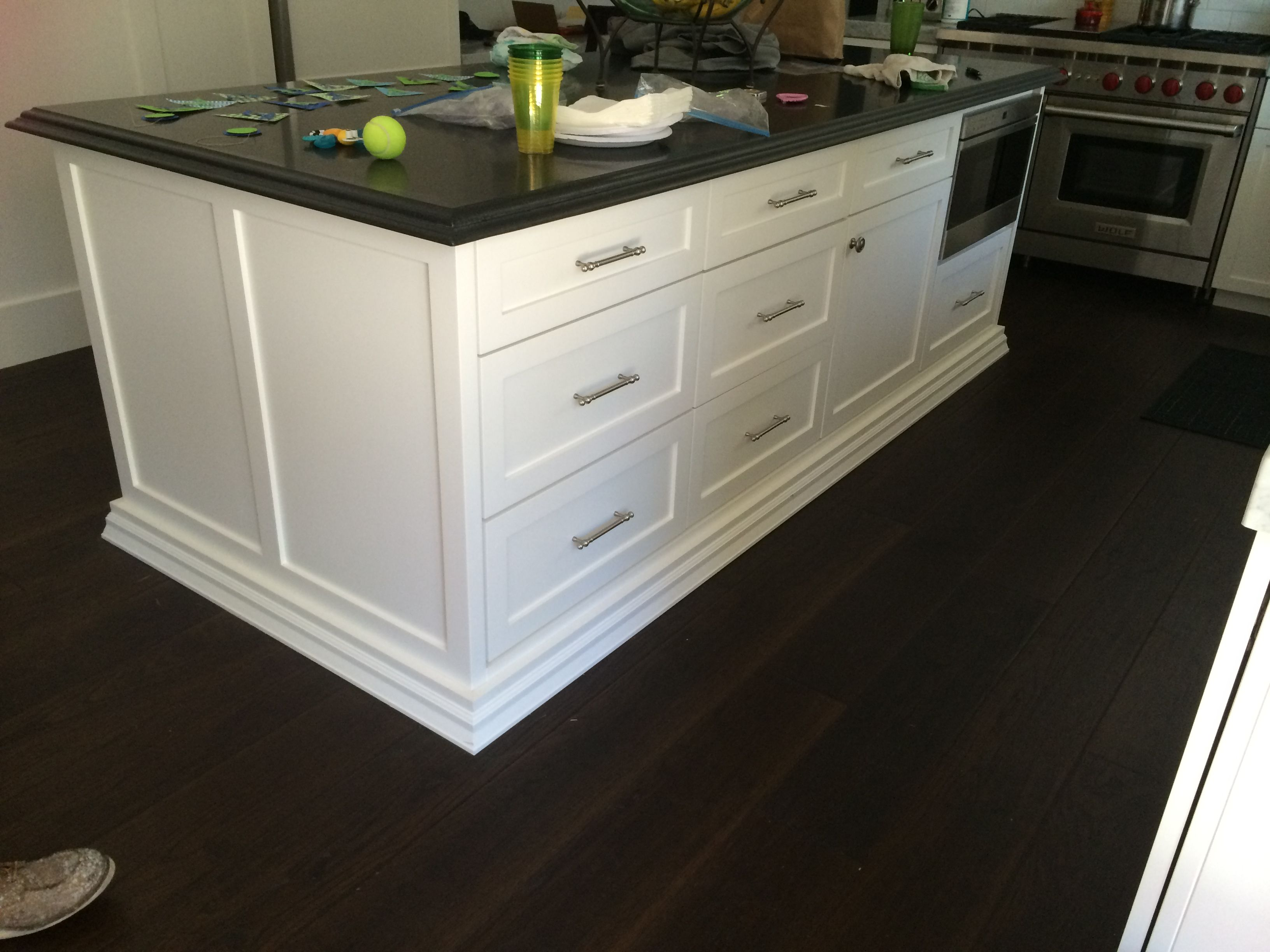 full kitchen cabinets console table shaker overlay white custom island atc