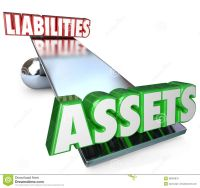 assets-vs-liabilities-balance-scale-net-worth-money-wealth ...