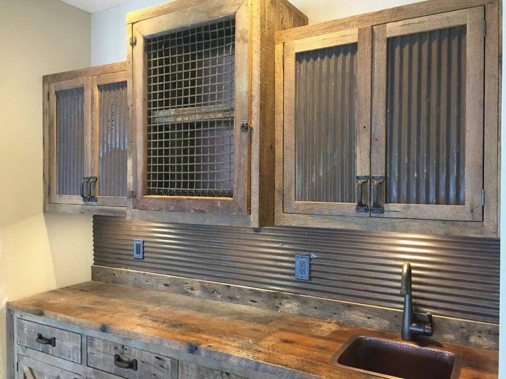 Metal Panels Made Kitchen Walls
