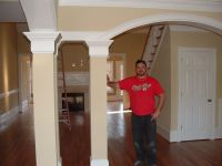 arched interior doorways with wood pillars - Google Search ...