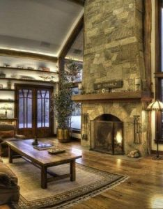 awesome stone fireplace design ideas living room interior rustic decor also rh za pinterest