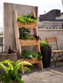 Farmer 3-tier Vertical Wall Garden Rustic Ladder