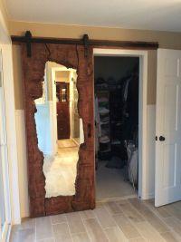 Live edge wood mirror barn door | Interior Barn Doors ...