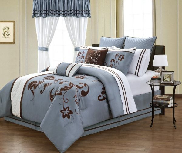 Cheap Blue And Brown Bedding Sets Luxury