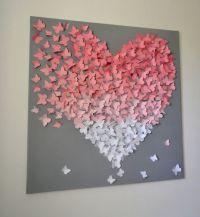 XL 3D Butterfly Statement Wall Art-Light Pink Ombre by ...