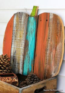 Picket Fence Scrappy Pumpkin Wood Crafts