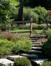 Stairs to pasture - nice idea for a hill | Garden and ...