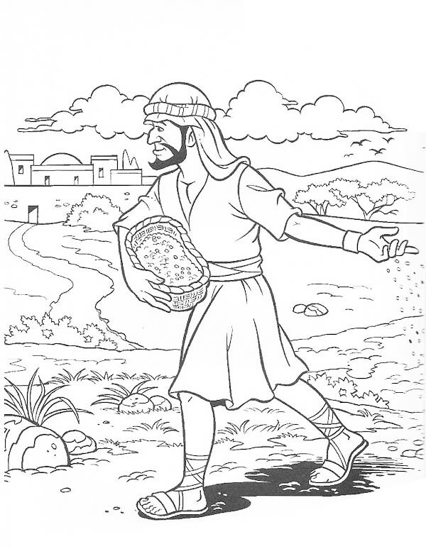Vineyard Workers Parable Coloring Pages Sketch Coloring Page