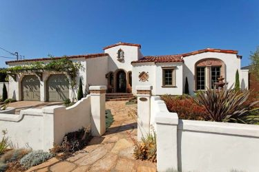 spanish homes exterior houses colors wall paint colonial fence exteriors hacienda revival