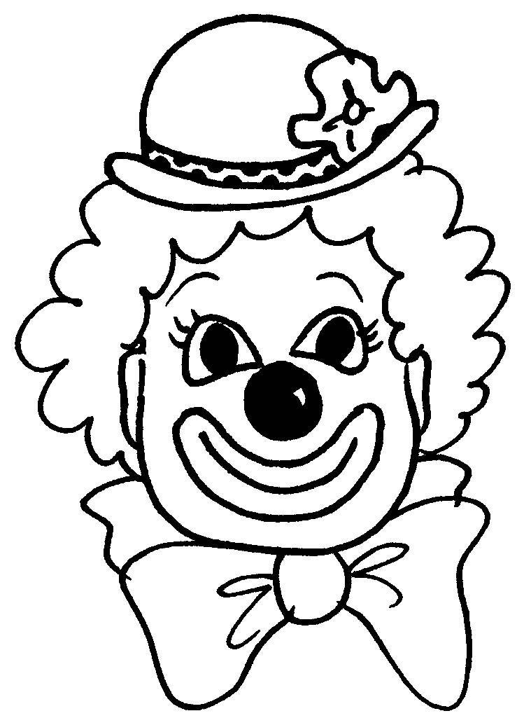 Visage de clown à colorier http://memoiresjuives.blogspot
