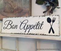 BON APPETIT French Signs Kitchen Signs Bon by ...