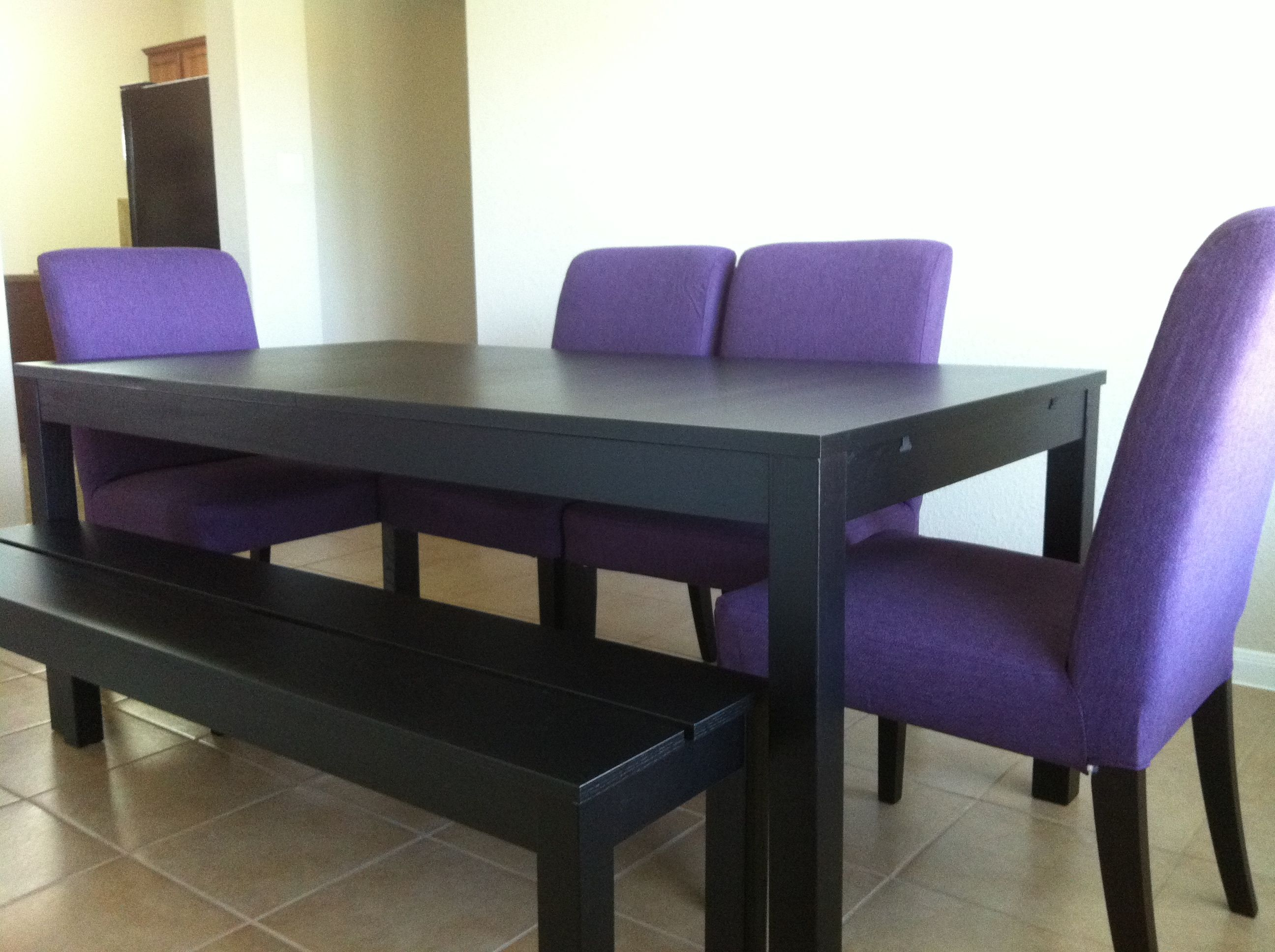 Dining Table With Bench And Chairs Dining Set From Ikea Bjursta Table And Bench And