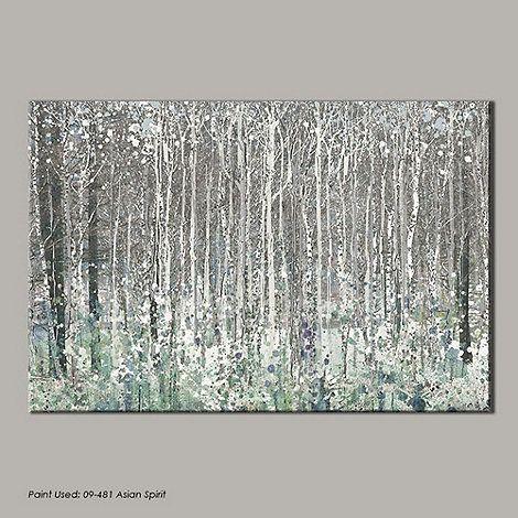 Graham Amp Brown Blue Watercolour Woods Canvas Wallart