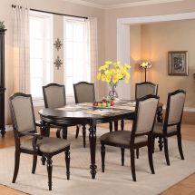 Foley Oval Dining Room Table Set Crown Mark Furniture