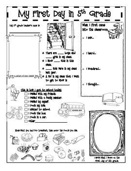 5th Grade » First Day Of School Worksheets 5th Grade