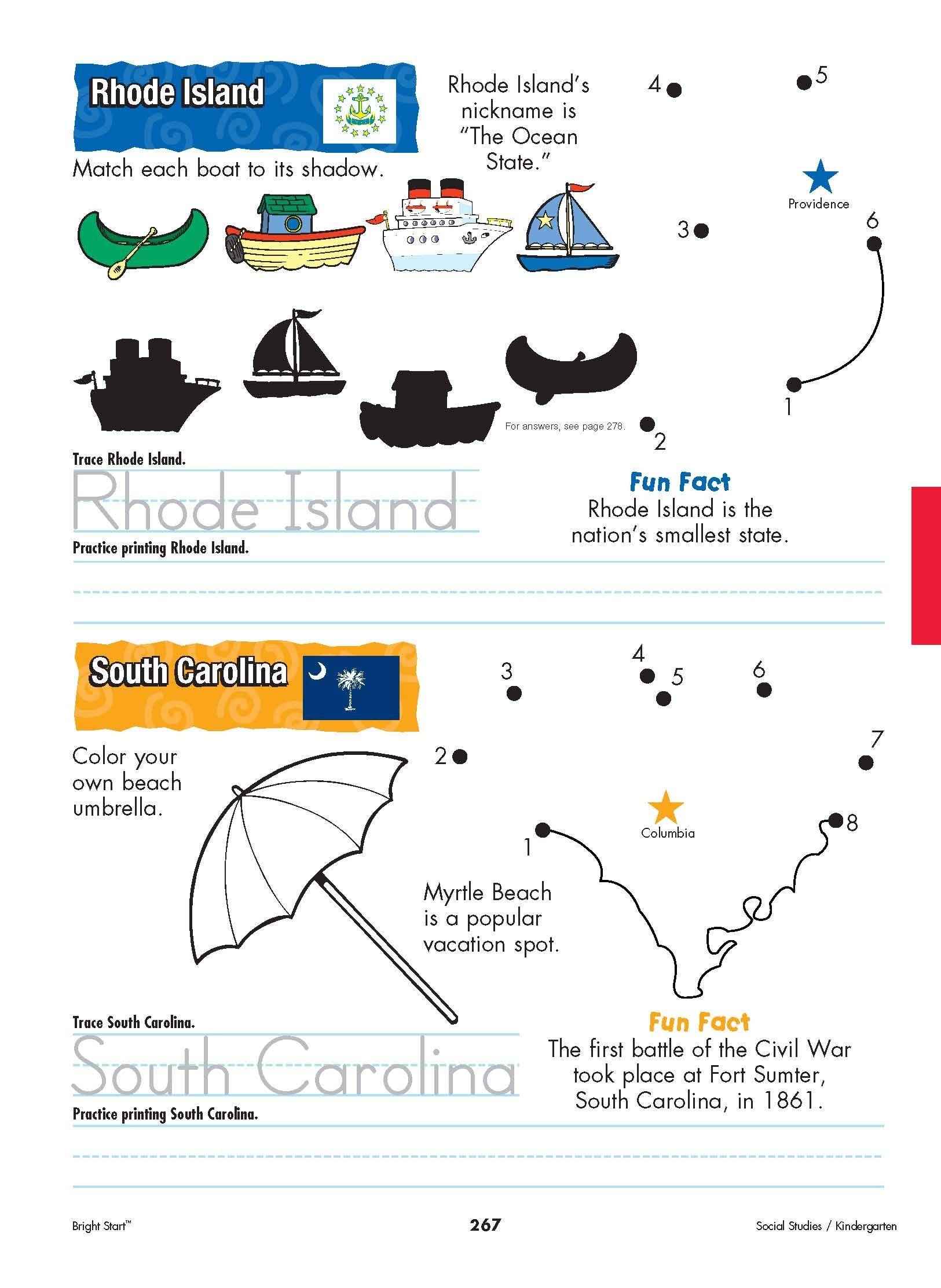 Rhode Island And South Carolina Your Kindergartener Can