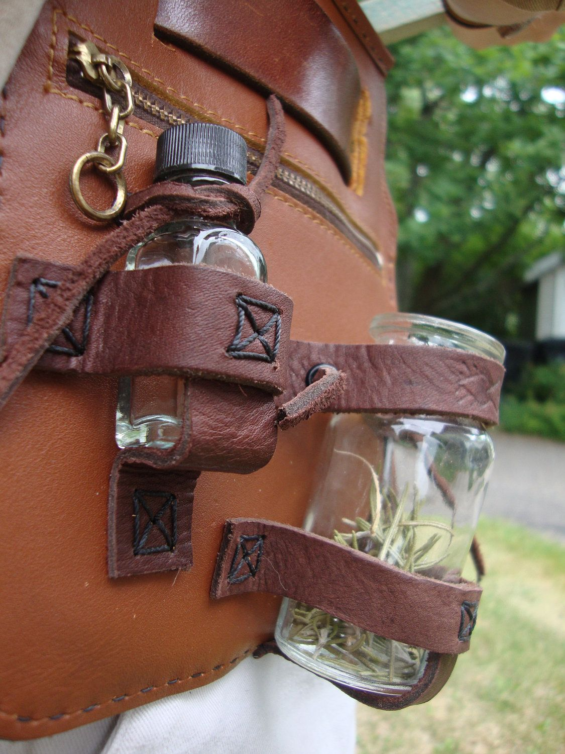 diy leather belt chair slipcovers for barrel chairs pouch bottle holder  pinteres