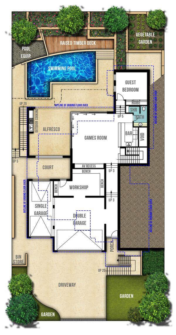 Two Storey Hamptons Style Home Plans Floor Plans Pinterest