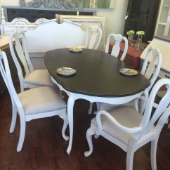 White Painted Table And Chairs Wooden Swivel Desk Chair Here Is A Queen Anne Six That I