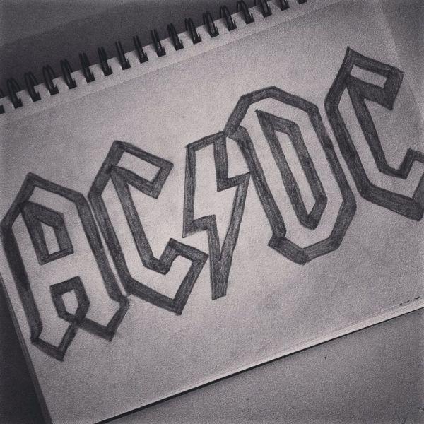 Rock Band Logo Drawings