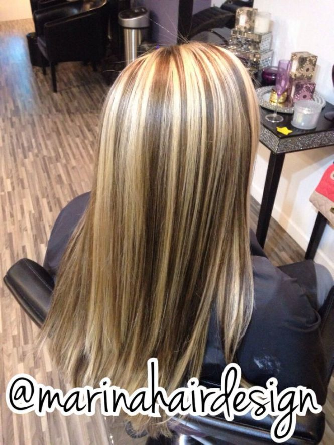 Dark hair with chunky blonde highlights images hair extension chunky highlights for blonde hair the best blonde hair 2017 blue streaks in blonde hair highlight pmusecretfo Image collections