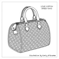 LOUIS VUITTON - SPEEDY BAG - Designer Handbag Illustration ...