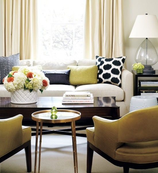 Living room yellow blue black and white by cindy louise also muebles rh pinterest