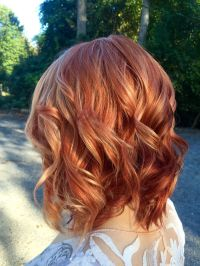 Red hair with blonde highlights. | Hair color | Pinterest ...