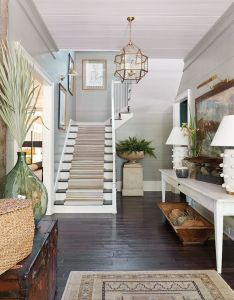 Montgomery based interior designer ashley gilbreath shares her inspiration for the entryway and guest bedroom of southern living idea house also   in runners entrance rh pinterest