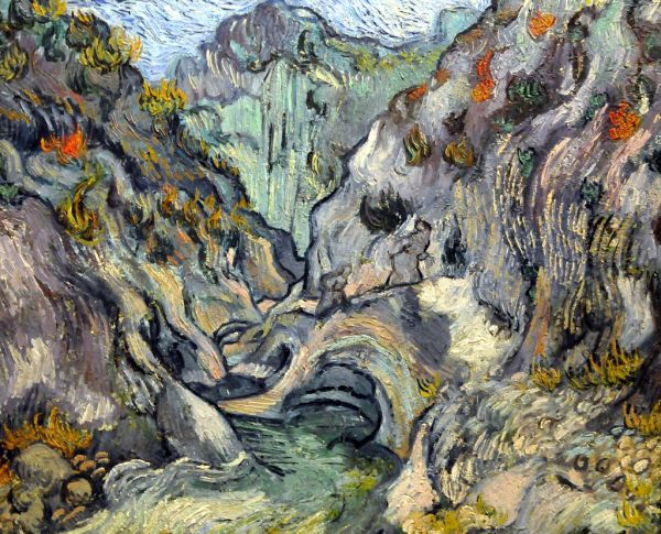 Vincent Van Gogh - Ravine 1889 Boston Museum Of Fine Arts Mbell1975 Art And